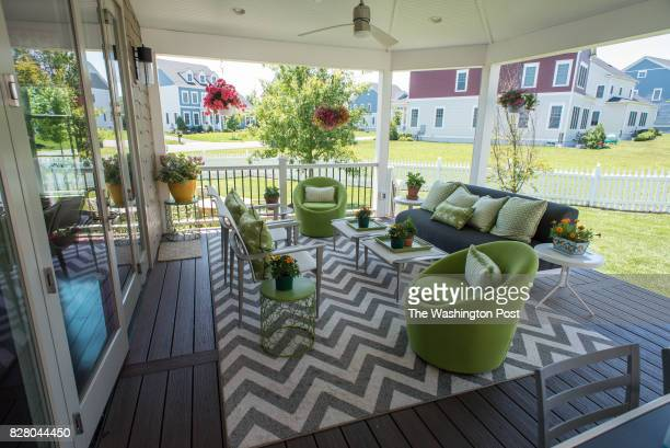 The home of Sandy Jones who has lived in Willowsford for three years Her back porch The Willowsford development incorporates open space and...