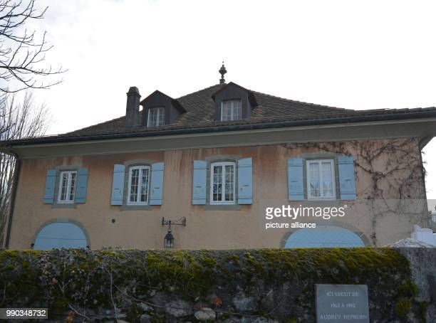 The home of the actress Audrey Hepburn in Tolochenaz Switzerland 06 January 2018 Hepburn died here aged 63 25 years ago in Switzerland where she had...