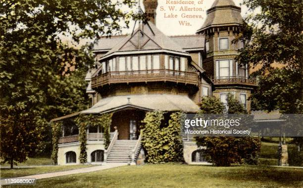 The home of the Allertons Lake Geneva Wisconsin 1907