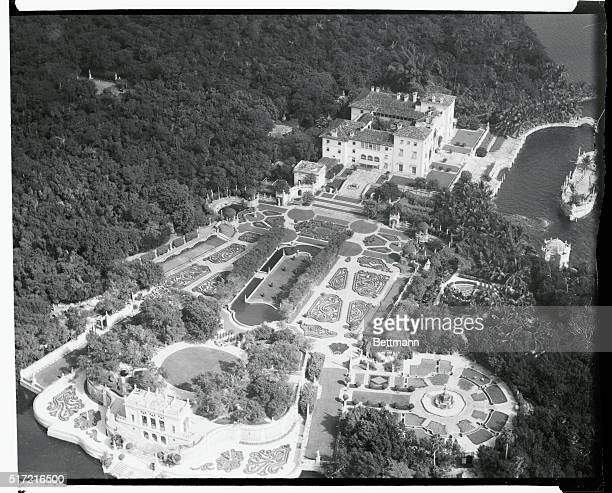 The home of the late James Deering known as Vizcaya built at a cost of $15000 and regarded as the most palatial private residence in history is open...