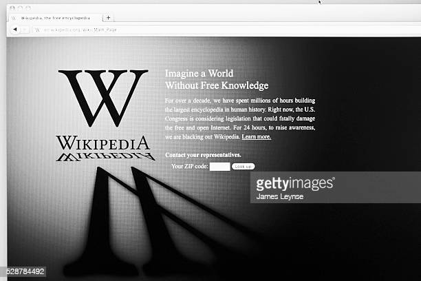 The home page of Wikipedia blacked out in protest over SOPA and PIPA, two online anti-piracy bills currently under consideration on Capitol Hill....