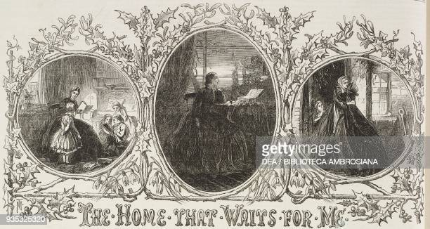 The home that waits for me title of music score illustration from the magazine The Illustrated London News volume XLV December 24 1864