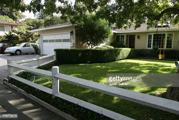 The home where Google cofounders Larry Page and Sergey Brin rented the garage 8 years ago to set up Google is seen October 2 2006 in Menlo Park...
