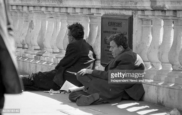 The homeless in Dublin Circa June 1971
