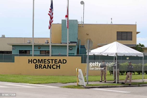 The Homestead Temporary Shelter for Unaccompanied Children on June 19 2018 in Homestead Fla According to recent reports there are about 1000 migrant...