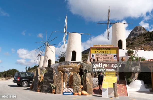 The Homo Sapiens museum at Ano Kera a stop off place on the road to Lasithi Plateau Crete Greece