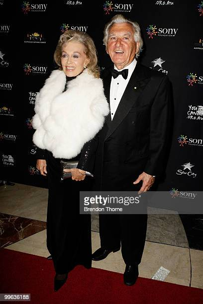 The Hon Bob Hawke AC and wife Blanche d'Alpuget attend the Australian captain's dinner to tackle youth cancer at Star City Casino on May 17 2010 in...