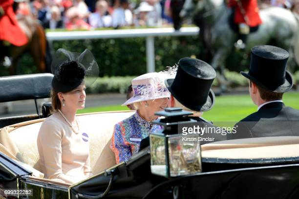 The Hon Mrs James Tollemache Princess Alexandra The Hon Lady Ogilvy James Swartz and The Hon James Tollemache are seen during the Royal Procession on...