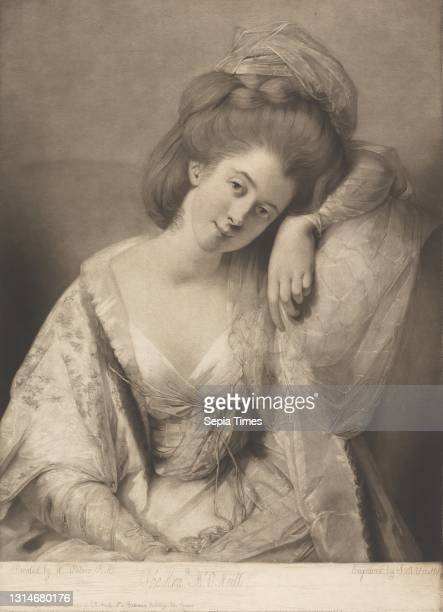 The Hon. Mrs. O'Neill, Print made by John Raphael Smith, 1752–1812, British, after Matthew William Peters, 1742–1814, British Mezzotint on moderately...