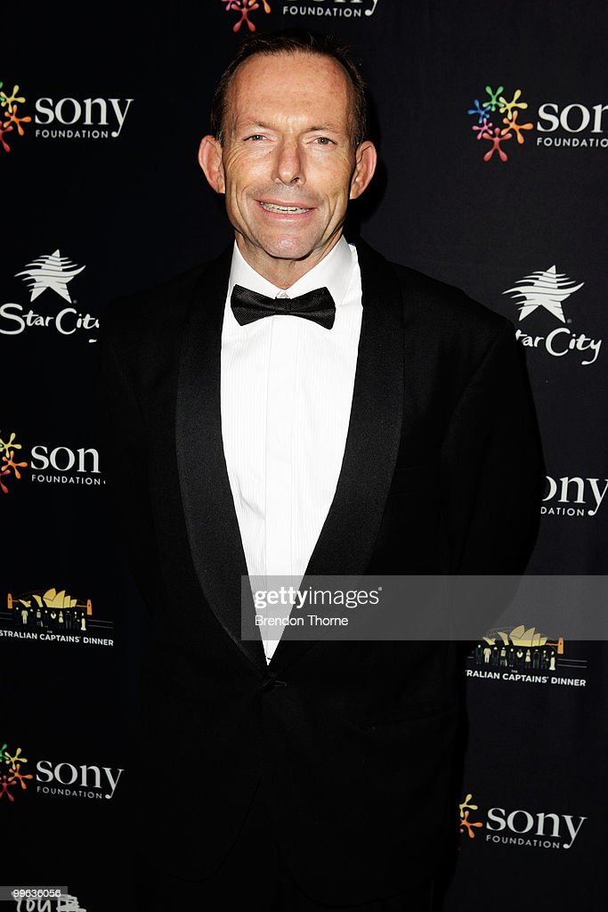 The Hon. Tony Abbott MP attends the Australian captain's dinner to tackle youth cancer at Star City Casino on May 17, 2010 in Sydney, Australia.
