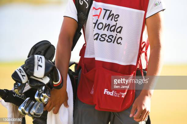 The Honda Classic caddie bib during the final round of The Honda Classic at PGA National Champion course on March 1 2020 in Palm Beach Gardens Florida