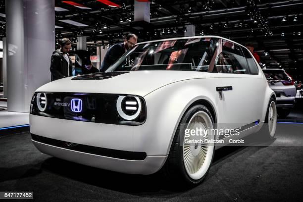 The Honda EV on display at the 2017 Frankfurt Auto Show 'Internationale Automobil Ausstellung' on September 13 2017 in Frankfurt am Main Germany