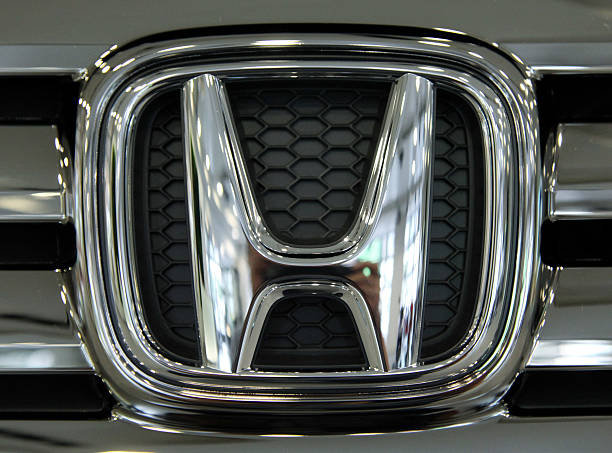 The Honda Motor Co Logo Is Displayed On Companys N Box Minicar At
