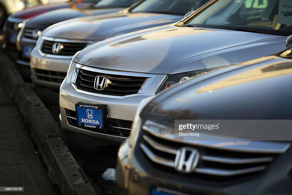 The Honda Motor Co. Logo Is Seen On The Grill Of New And Used Vehicles