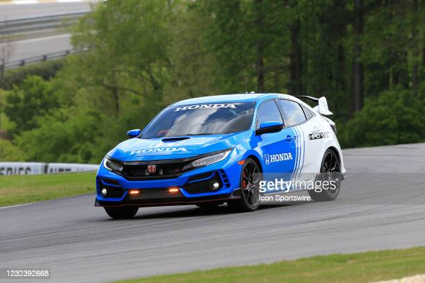The Honda pace car waits on the field during the running of the Honda Indy Grand Prix of Alabama on April 18, 2021 at Barber Motorsports Park in...