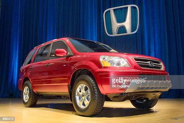 The Honda Pilot SUV is introduced at the 2002 North American International Auto Show January 6 2002 in Detroit MI