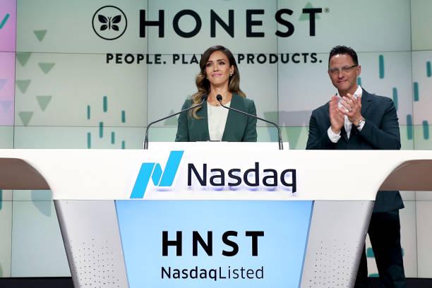 NY: The Honest Company Rings The Nasdaq Stock Market Opening Bell To Mark The Company's IPO