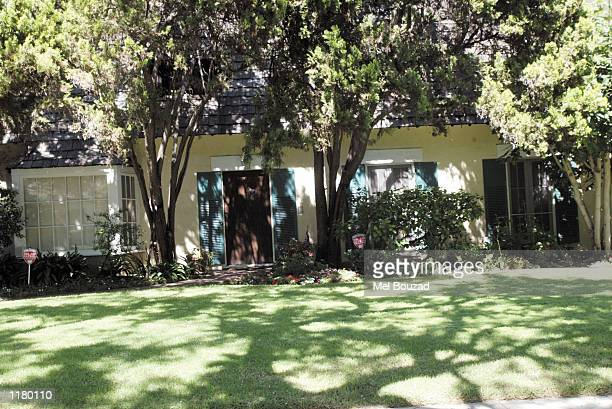 The Honeymoon Home that actress Marilyn Monroe and then husband Joe DiMaggio shared for five months is seen on July 26 2002 in Beverly Hills...