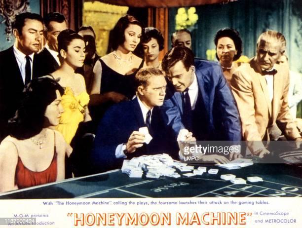 Brigid Bazlen Paula Prentiss Steve McQueen Jim Hutton on lobbycard 1961