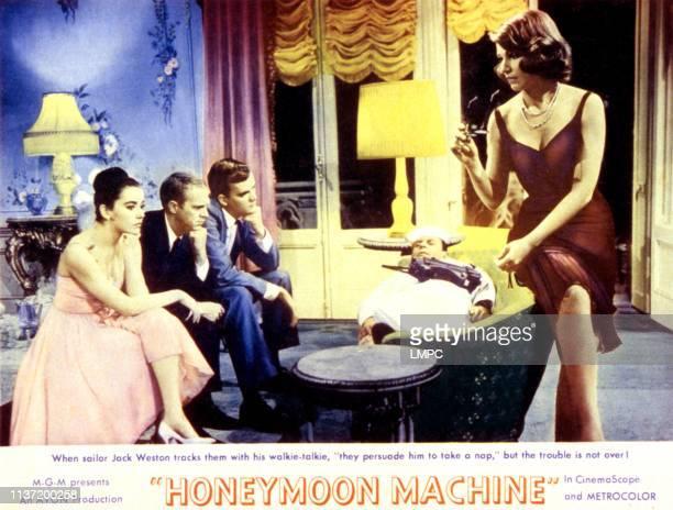 Brigid Bazlen Steve McQueen Jim Hutton Jack Mullaney Paula Prentiss on lobbycard 1961