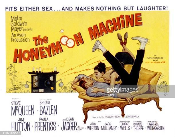 The Honeymoon Machine poster Steve McQueen Brigid Bazlen 1961