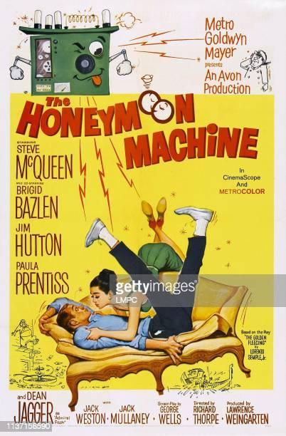 The Honeymoon Machine poster US poster art from left Steve McQueen Brigid Bazlen 1961