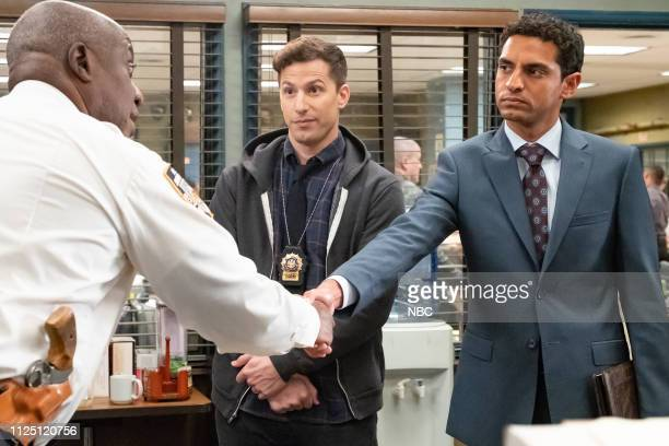 NINE The Honeypot Episode 607 Pictured Andre Braugher as Ray Holt Andy Samberg as Jake Peralta Karan Soni as Gordon Lundnt