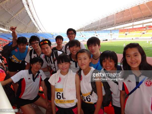 The Hong Kong athletics rteam are in high spirits, medals or no medals. 21JUL11