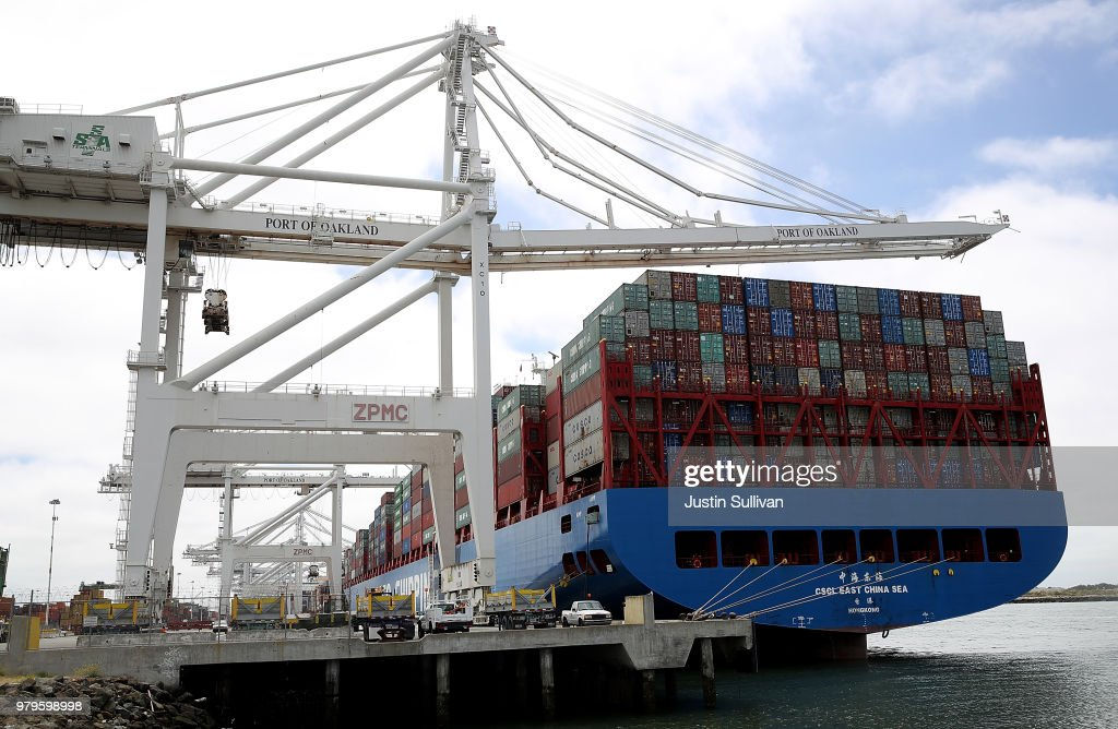 Fears Of Trade War Between U.S. And China Rise As Trump Threatens New Tariffs : News Photo