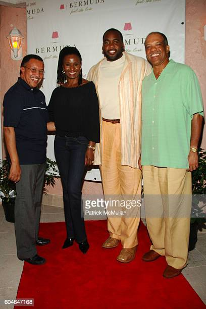 The Honorable Alex Scott Barbara Smith Kwame Kilpatrick and Ewart Brown attend BERMUDA MUSIC FESTIVAL 2006Day 1 at Fairmont Southampton Beach Club on...