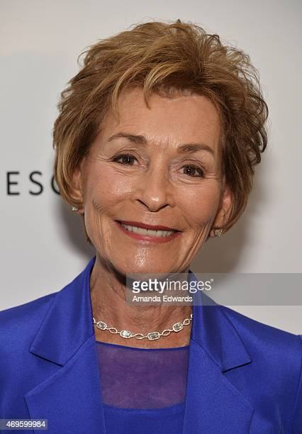 The Honorable Judy Sheindlin arrives at the Women's Guild CedarsSinai's Annual Luncheon at the Regent Beverly Wilshire Hotel on April 13 2015 in...