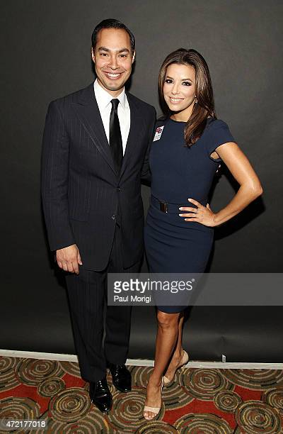 The Honorable Julian Castro and Eva Longoria actress and cofounder Latino Victory attend the Latino Victory Foundation's Latino Talks event at The...
