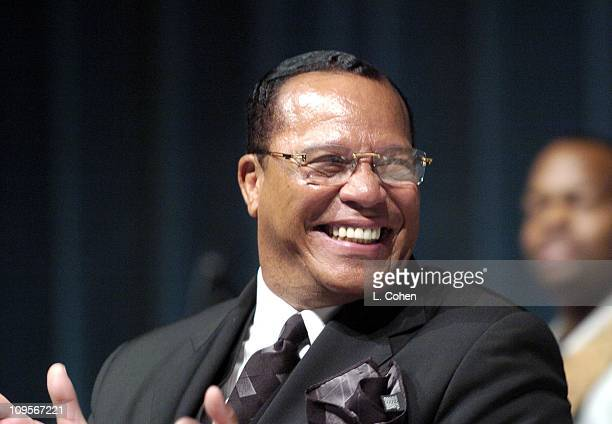 The Honorable Minister Louis Farrakhan during A Celebration of the Life of Rick James Memorial at Forest Lawn in Burbank California United States