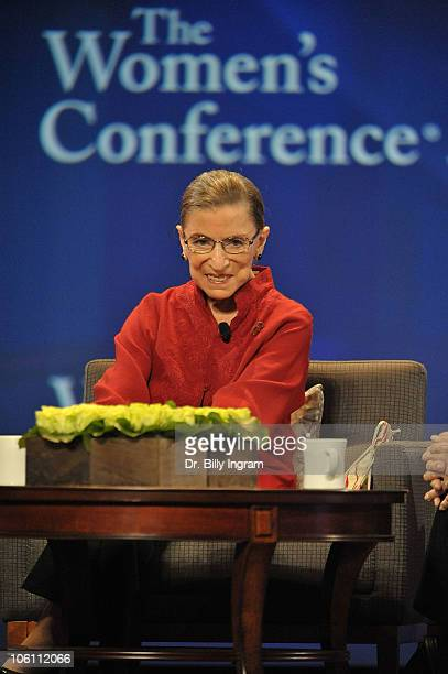 The honorable Ruth Bader Ginsberg speaks on day 3 of Maria Shriver's Women's Conference 2010 at the Long Beach Convention Center on October 26 2010...