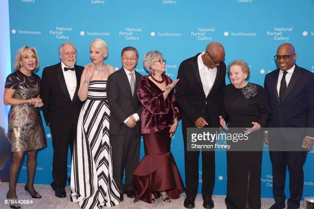 The honorees and their presentors at the National Portrait Gallery 2017 American Portrait Gala NBC and MSNBC journalist Andrea Mitchell Gerald H...