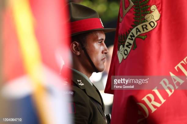 The honour guard at the opening of Te Rau Aroha on February 05 2020 in Waitangi New Zealand The $146 million Maori Battalion Museum aims to raise...