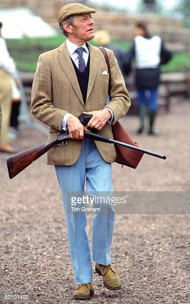 The Honourable Angus Ogilvy Taking Part In A Charity Clay Pigeon Shoot At The Gleneagles Hotel In Aid Of Cancer Research