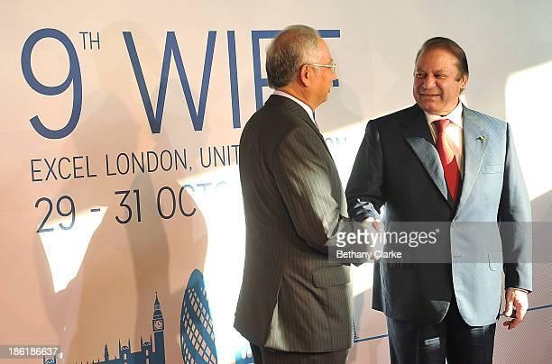 The Honourable Dato' Sri Mohd Najib Tun Abdul Razak, Prime Minister of Malaysia & Patron, WIEF Foundation greets H.E. Muhammad Nawaz Sharif, Prime...