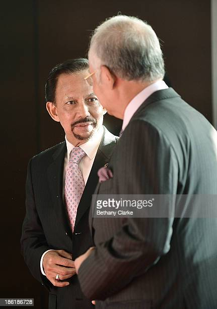 The Honourable Dato' Sri Mohd Najib Tun Abdul Razak Prime Minister of Malaysia Patron WIEF Foundation greets HM Sultan Hassanal Bolkiah of Brunei...