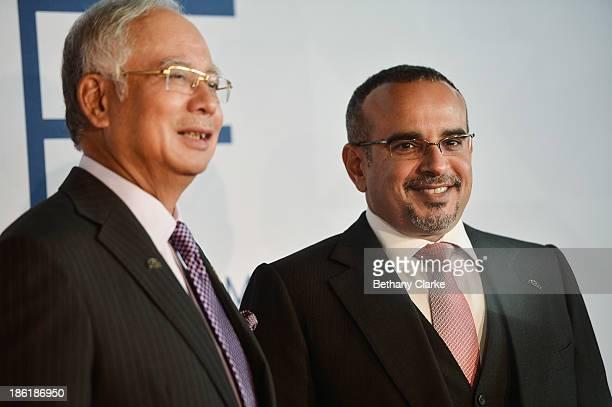 The Honourable Dato' Sri Mohd Najib Tun Abdul Razak Prime Minister of Malaysia Patron WIEF Foundation greets HRH Prince Salman bin Hamad bin Isa Al...