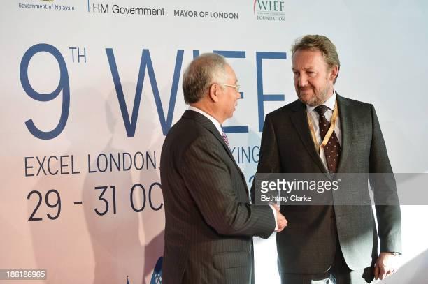 The Honourable Dato' Sri Mohd Najib Tun Abdul Razak Prime Minister of Malaysia Patron WIEF Foundation greets HE Bakir Izetbegovic Member of the...