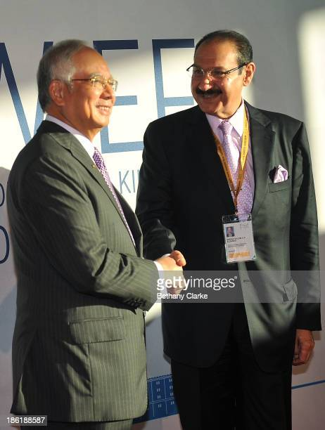 The Honourable Dato' Sri Mohd Najib Tun Abdul Razak Prime Minister of Malaysia Patron WIEF Foundation greets HE Sheikh Salem Abdulaziz alSabah...
