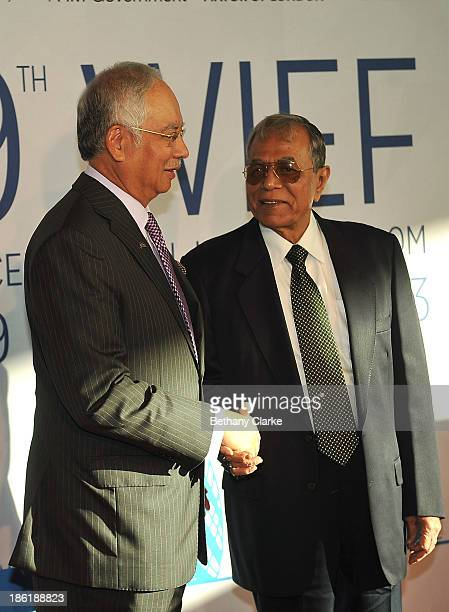 The Honourable Dato' Sri Mohd Najib Tun Abdul Razak Prime Minister of Malaysia Patron WIEF Foundation greets HE Abdul Hamid President of the People's...