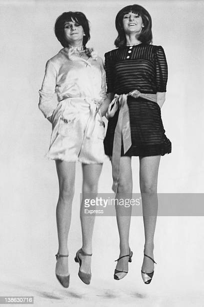The Honourable Jane and Victoria OrmsbyGore daughters of William David OrmsbyGore the 5th Baron Harlech Photograph by John Green from the book 'The...