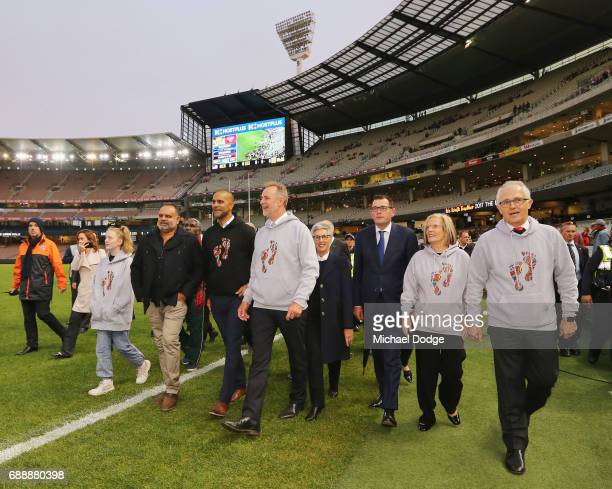 The Honourable Linda Dessau AC Victorian Premier Daniel Andrews Opposition Leader Bill Shorten Prime Minister Malcom Turnbull and his wife Lucy...
