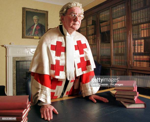 The Honourable Lord Sutherland pictured in an office at the High Court in Edinburgh one of the three judges to hear the trial of the two Libyans...