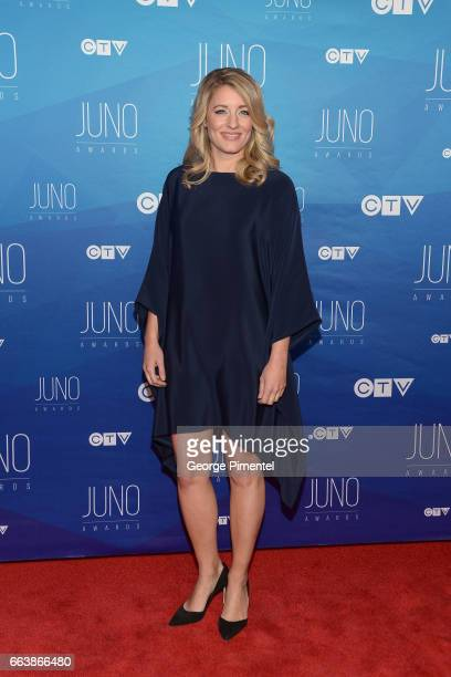 The Honourable Melanie Joly arrives at the 2017 Juno Awards at Canadian Tire Centre on April 2 2017 in Ottawa Canada