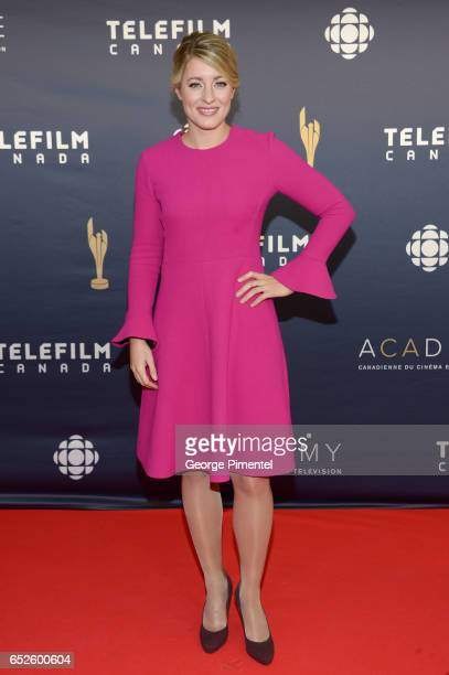 The Honourable Melanie Joly attends 2017 Canadian Screen Awardsat Sony Centre For Performing Arts on March 12 2017 in Toronto Canada