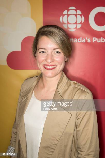 The Honourable Melanie Joly Minister of Canadian Heritage Government of Canada attends the CBC Radio Canada opening reception at the Banff World...