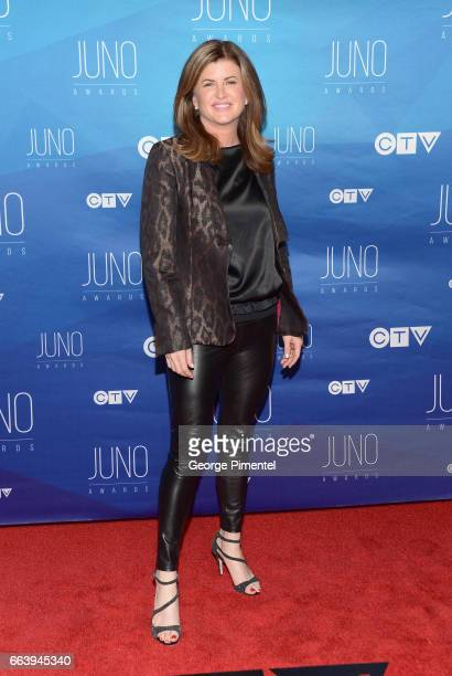 The Honourable Rona Ambrose arrives at the 2017 Juno Awards at Canadian Tire Centre on April 2 2017 in Ottawa Canada